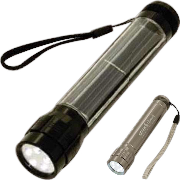 "5-led Solar-powered Flashlight, ""batteries Not Included"" Because They Aren't Needed Photo"