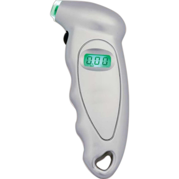 Digital Tire Gauge With Psi And Bar Readings. Sleek Device Will Save You Money Photo