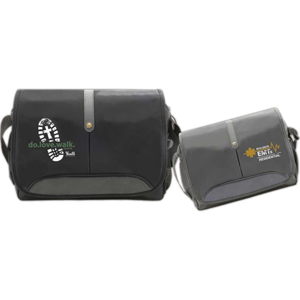 "Goldracer - 420 Denier Nylon 15.4"" Computer Bag. Fully Padded Zipper Compartment And Front Flap Photo"