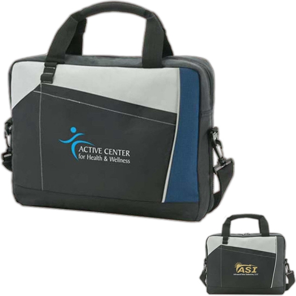 "Vector - Computer Messenger Bag With Stitching. Holds Up To A 14.1"" Laptop Display Photo"