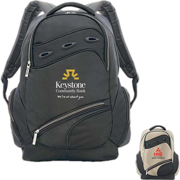 "Pythonista - Polyester Computer Backpack With Foam Carry Handles Holds Up To 15.4"" Laptop Photo"