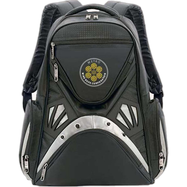 "Kaleidoscoper - Twill, Polyester Computer Backpack With Padded Zipper Compartment For 15.4"" Display Photo"