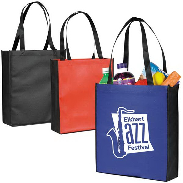 Two Tone Tote Bag With Gusset Made Of Non-woven Polypropylene Photo