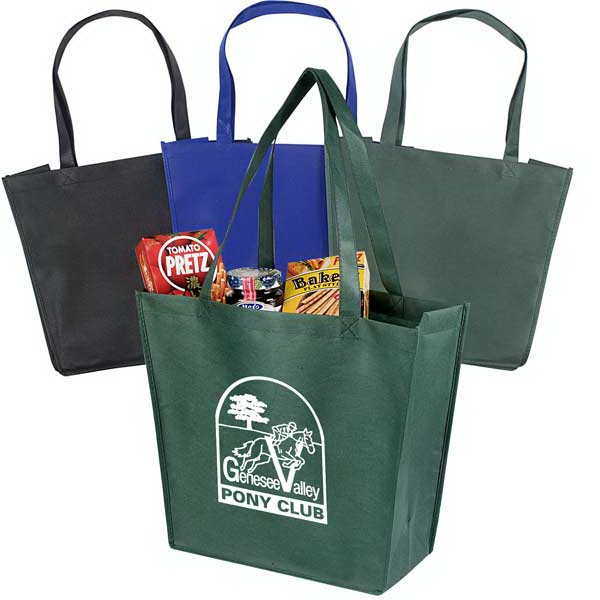 "Recyclable And Reusable Non-woven Tote With Dual Reinforced 24"" Handles Photo"