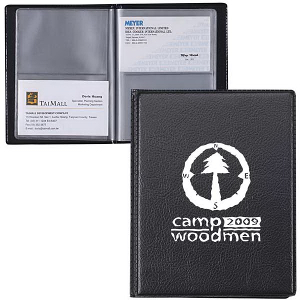 Leatherette Business Card Holder Holds Up To 48 Cards Photo