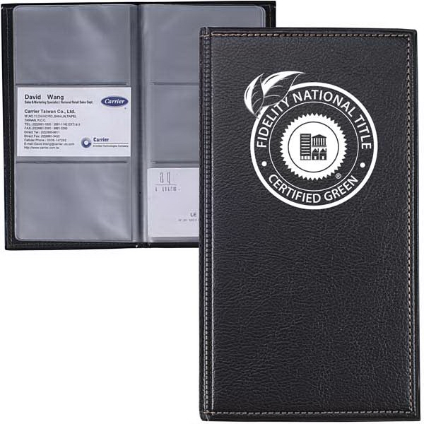 Leatherette Business Card Holder Holds Up To 72 Cards Photo