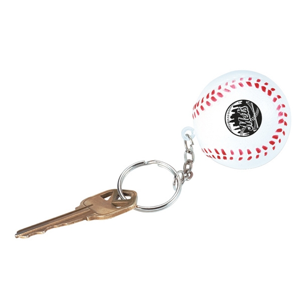 Baseball - Stress Reliever Key Chain With Sport Stress Ball Attached Photo