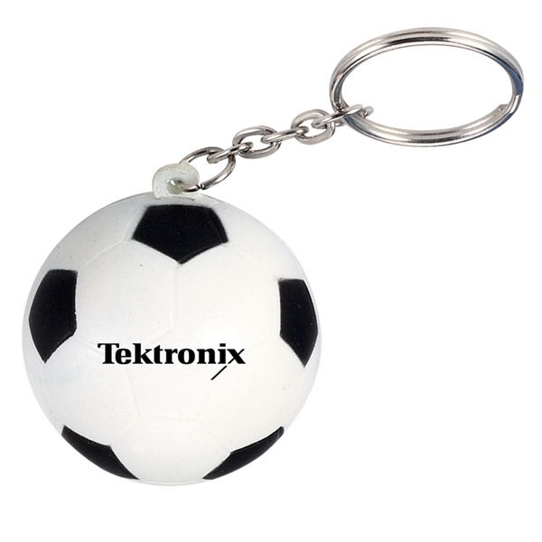 Soccer Ball - Stress Reliever Key Chain With Sport Stress Ball Attached Photo