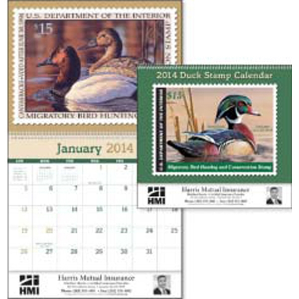2015 Calendar Featuring Historic Federal Duck Stamps Photo
