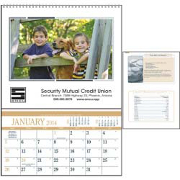 High-quality 2015 Calendar That Features Recipes And A Storage Pocket Each Month Photo