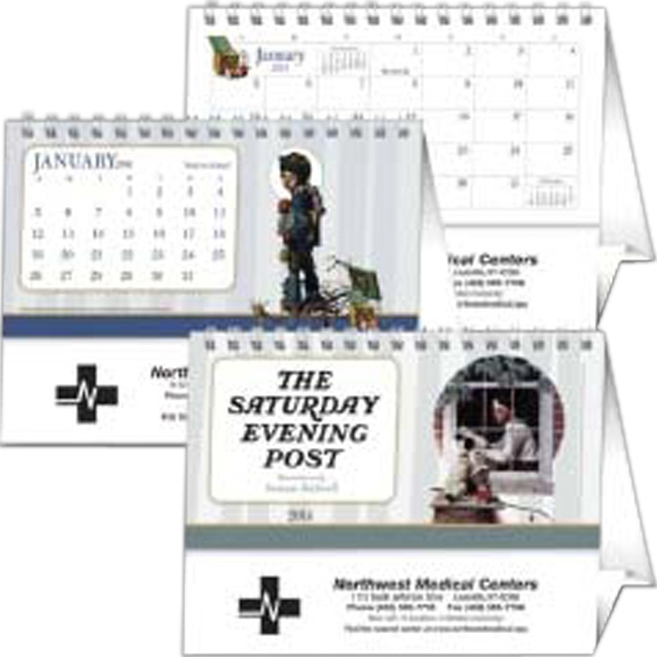 Saturday Evening Post - Twin Looped, 2015 Large Desk Calendar With Illustrations By Norman Rockwell Photo