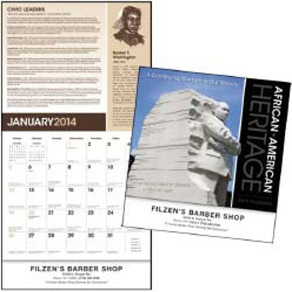 African-american Heritage - Educational 2015 Calendar Featuring Martin Luther King, Jr Photo