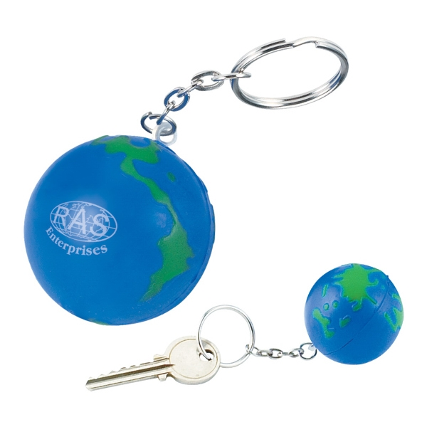 Globe Shape Stress Reliever Ball And Key Holder Photo