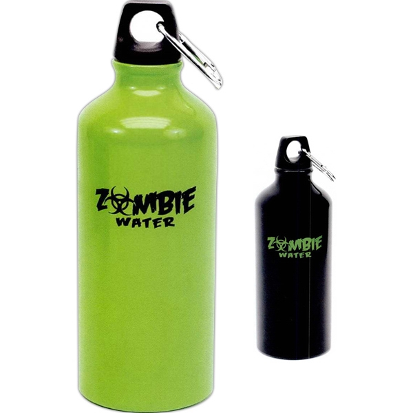 Zombie - Water Bottle With Carabineer Hook For Easy Carrying Photo