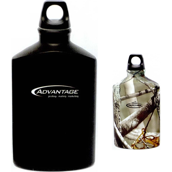 Allure - Black - Lightweight Aluminum Flask With Twist Off Plastic Cap Photo
