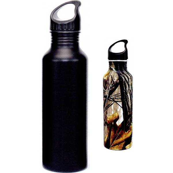 Wonder - Black - Aluminum Bottle With Twist Off Plastic Cap Photo