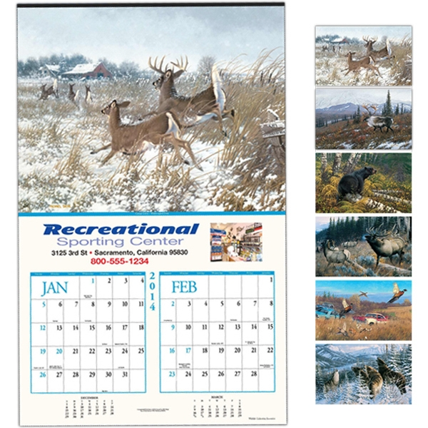 "Wildlife Collection - Six-sheet Executive Calendar, 14"" X 22"" Photo"