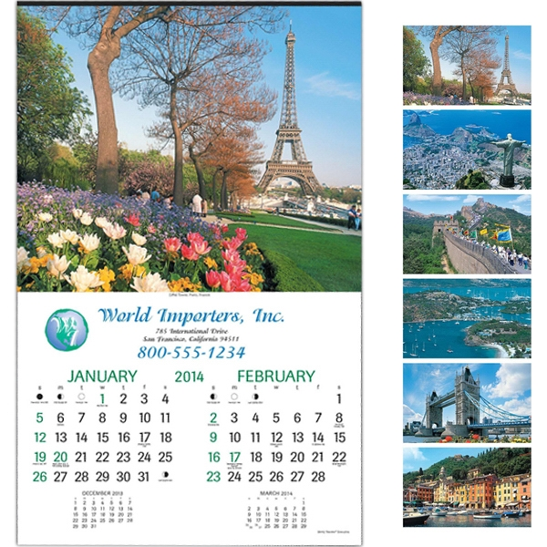 "World Traveler (tm) - Six-sheet Executive 14"" X 22"" Calendar Photo"