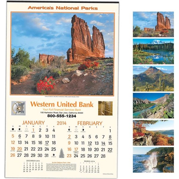 "National Parks - Executive Six-sheet 14"" X 22"" Calendar Photo"