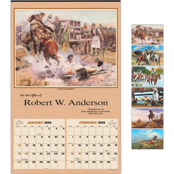 "Great Western Artists - Executive Six-sheet 14"" X 22"" Calendar Photo"