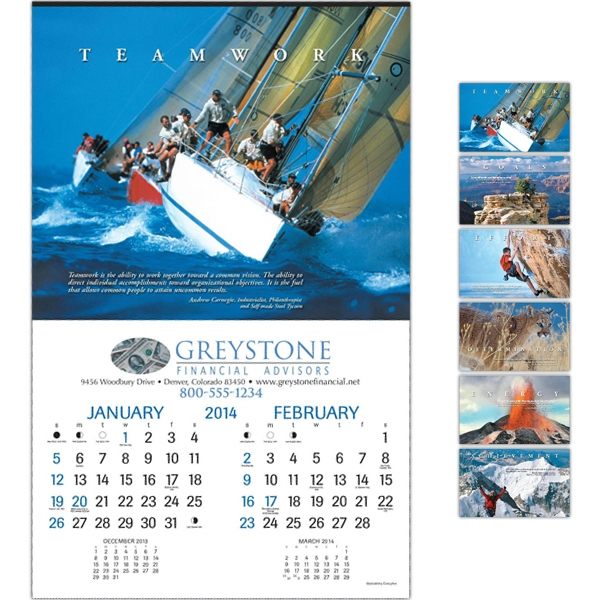 "Motivations - Executive Six-sheet 14"" X 22"" Calendar, Tinned At Top Photo"
