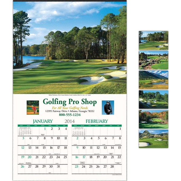 "Golf Executive Six-sheet 14"" X 22"" Calendar Photo"