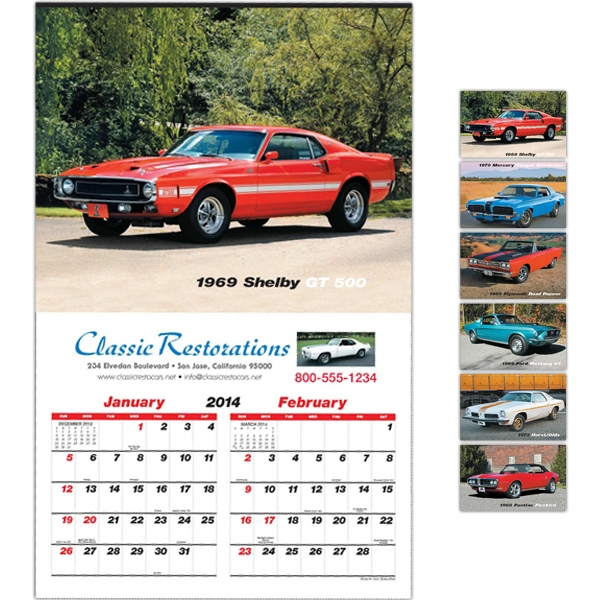 "Muscle Cars - Six-sheet 14"" X 22"" Calendar Photo"
