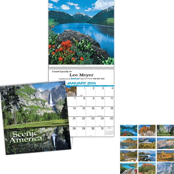 Scenic America (r) - Executive Appointment Calendar With Black Ad Photo