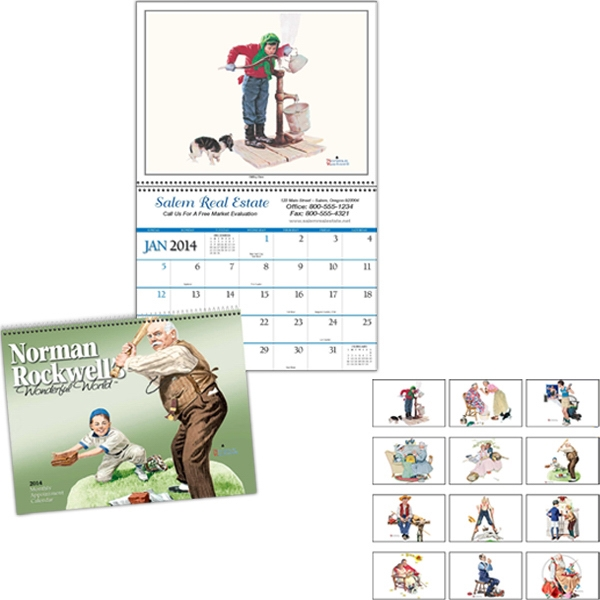 "Twelve-imprint Monthly Appointment Calendar, 10 13/16"" X 16 5/8"" Photo"