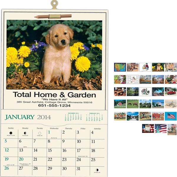Home & Garden - Pocket Calendar With Black Ad Photo