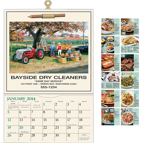 Town & Country - Recipe Calendar With Black Ad Photo