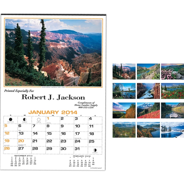Our Beautiful America (r) - Twelve-sheet Photographic Calendar With Black Ad Photo