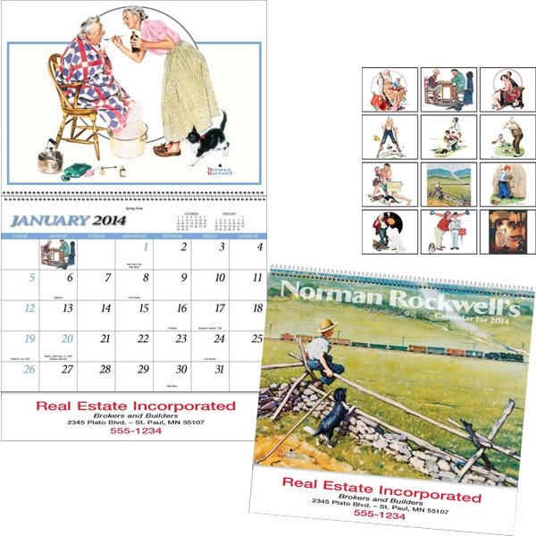 Spiral Bound 13-month Special Markets Calendar With Black Ad Photo