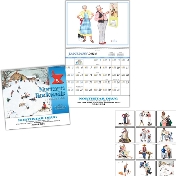 Pharmacy 13-month Special Markets Calendar With Black Ad Photo