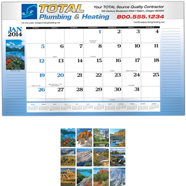 Executive Desk Pad Business Calendar Photo