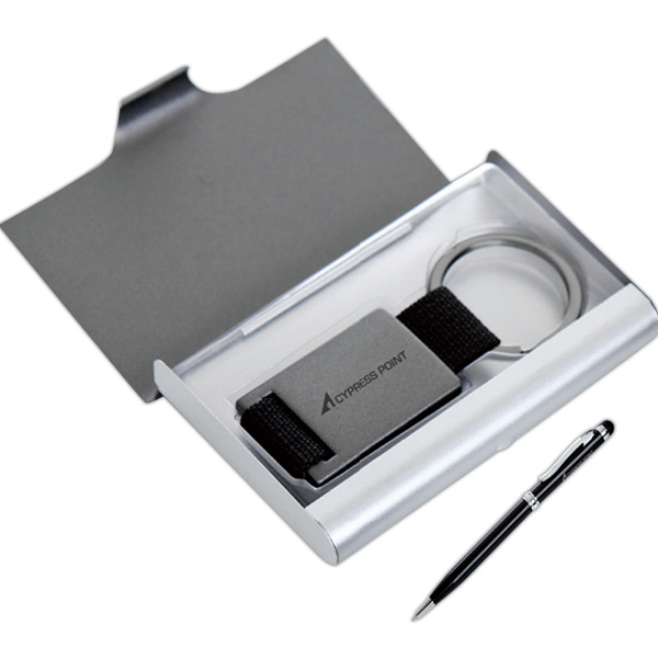 Gift Set With Key Holder, Card Case, And Stylus Photo
