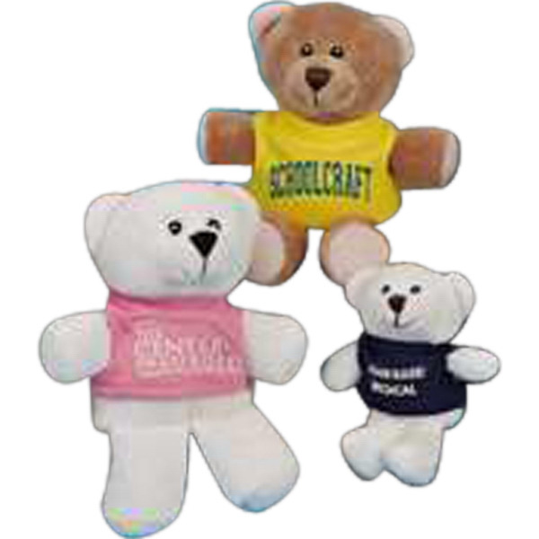 "Teen-kuddles (tm) - Stuffed 4.5"" Bear With Embroidered Eyes Photo"