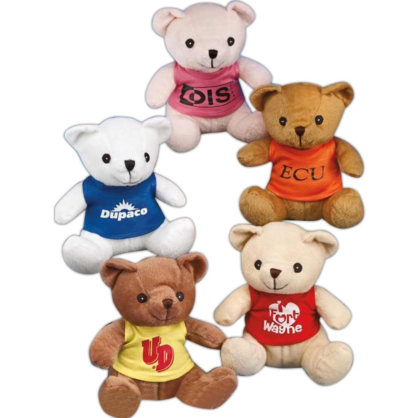 "Benny Bear (tm) - 8"" Stuffed Bear With Embroidered Eyes, Assorted Colors Photo"