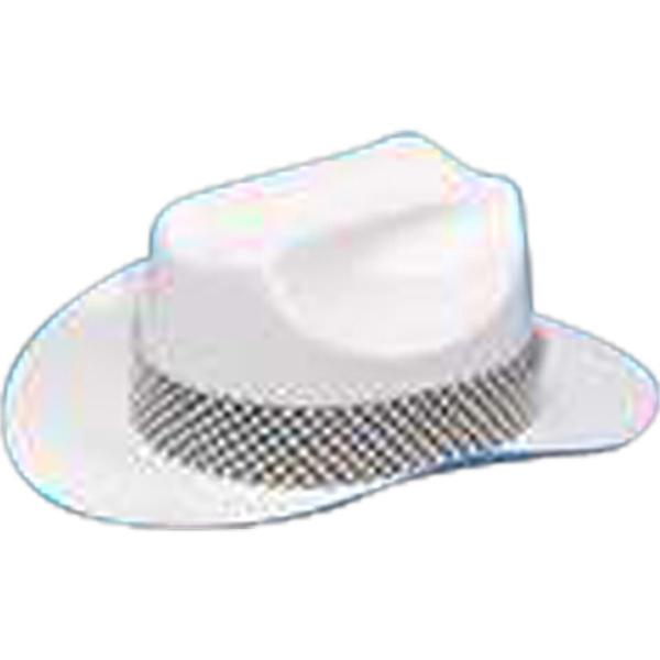 Plastic Cowboy Hat For Stuffed Animal. Blank Photo
