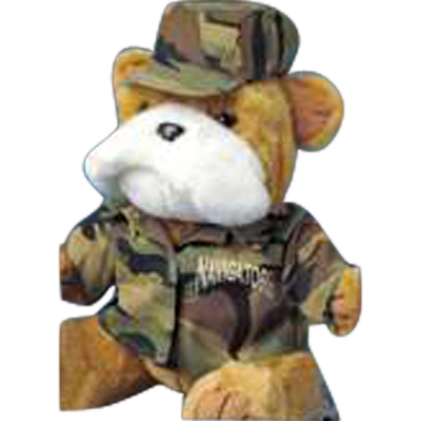 Two Piece Camouflage Outfit For Stuffed Animal. Blank Photo