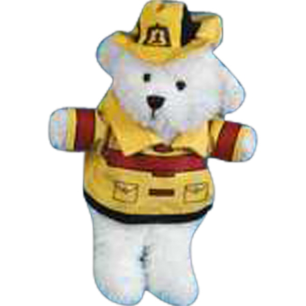 2 Piece Fireman's Outfit For Stuffed Animal. Blank Photo