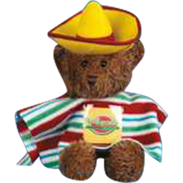 Mexican 2 Piece Outfit For Stuffed Animal. Blank Photo