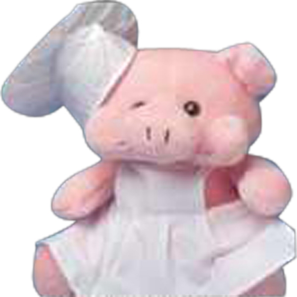 Medium 2 Piece Chef Uniform For Stuffed Animal. Blank Photo