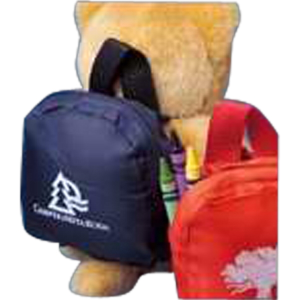 Navy Blue - Backpack For Stuffed Animal, Blank Photo