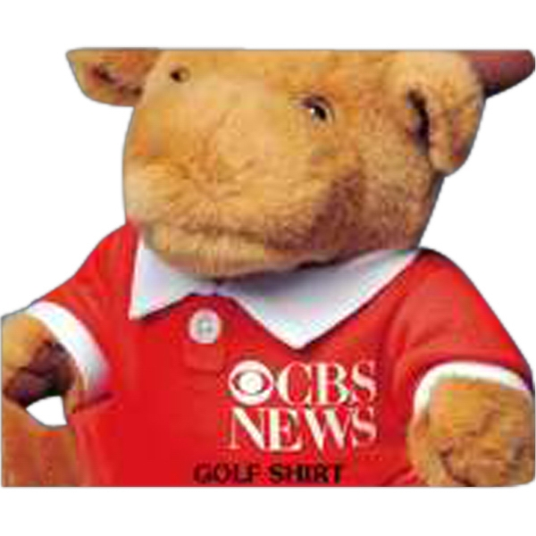 Golf Tee (polo Type Shirt) For Stuffed Animal, Red With White Trim, Blank Photo