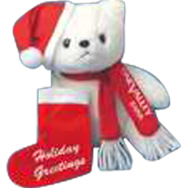 M - Christmas Pouch For Stuffed Animal, Stocking Shaped. Blank Photo