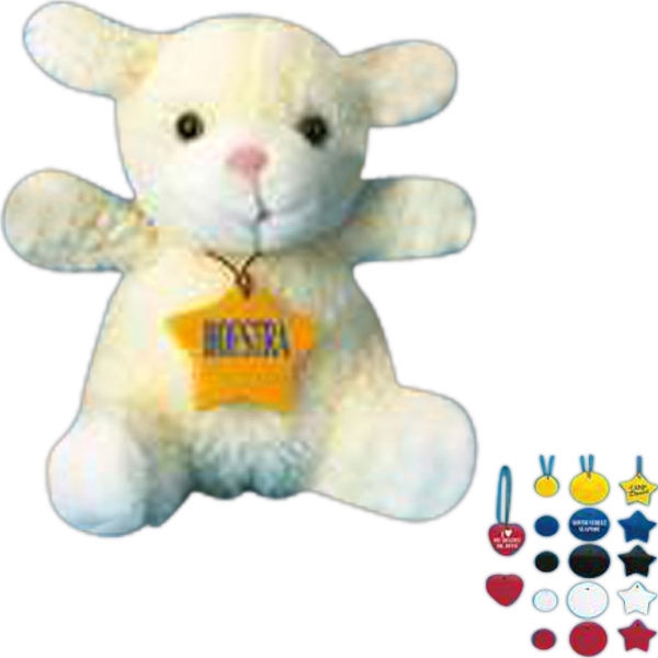 Star - Plastic Logo Tag For Stuffed Animal, Blank Photo