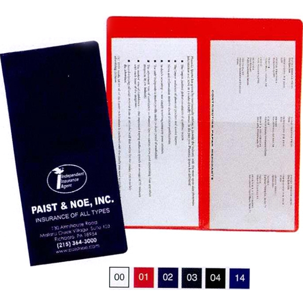 Policy And Document Holder With 2 Clear Half Pockets Photo