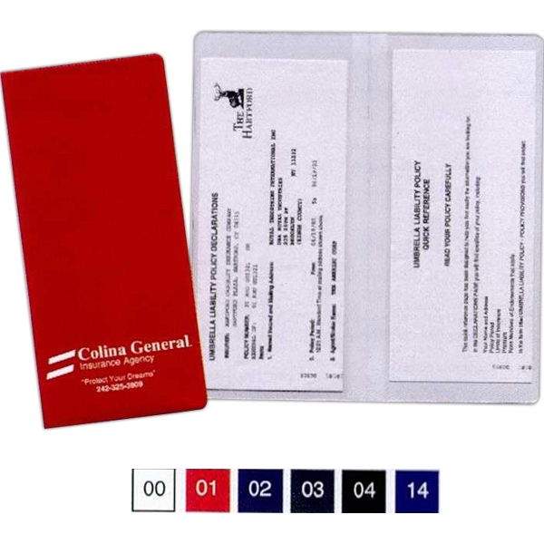 Policy And Document Holder With 2 Clear Full Pockets Photo