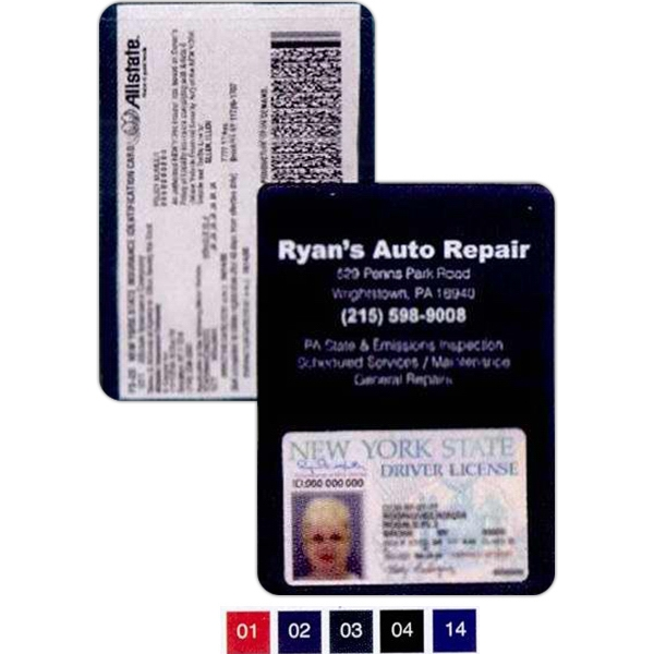 Insurance Card Holder With Business Card Pocket Photo